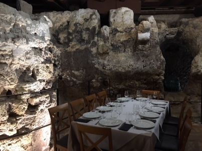 Lunch set in a cave