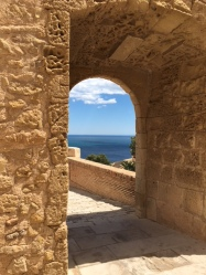 Entrance to the upper keep - SB - Alicante