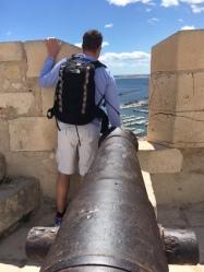 Looking down the barrel - Jeff SB castle - Alicante