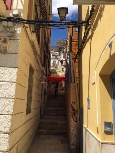 Narrow fiesta street - Alicante